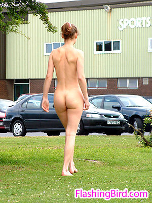 girls naked in public in UK british exhibitionists.